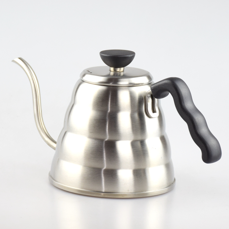 1PC Free Shipping 304 Stainless Steel Pour Over Drip Coffee Kettle Teapot 1000ML Hot Water Server