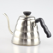 1PC Free Shipping 304 Stainless Steel Pour Over Drip Coffee Kettle Teapot 1000ML Hot Water Server V60 Coffee Pot