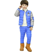 New Baby Thick Overalls Winter Jackets For Boys Girls Clothes Warm Snowsuit Kids Down Cotton pants Children Cartoon coat sets