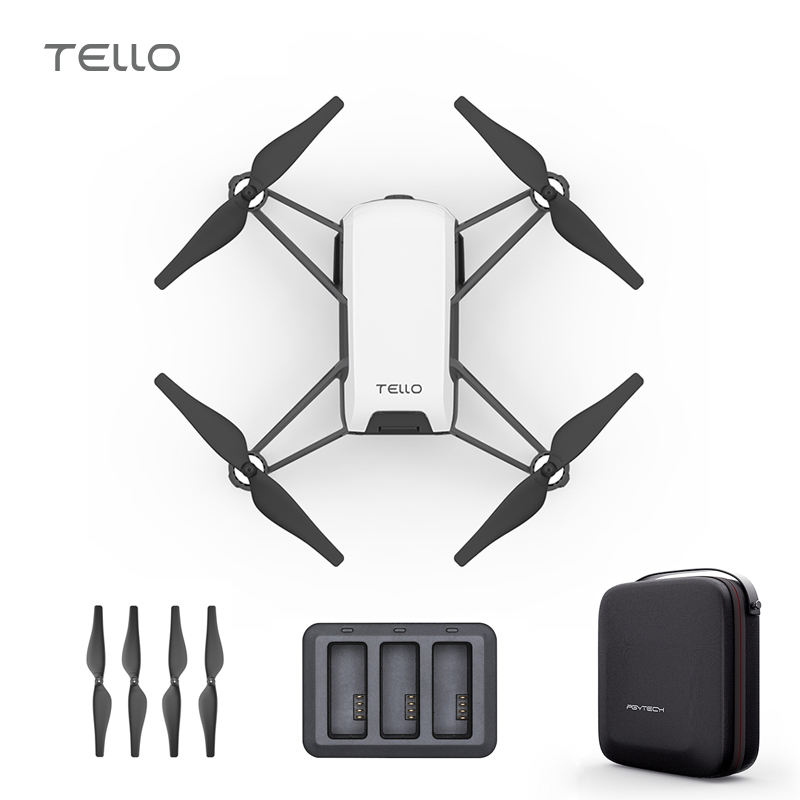 DJI Tello Drone & Bag & Charger Hub 720P HD Transmission Camera APP Remote Control Folding Toy FPV RC Quadcopter Drones ryze tello drone combo dji tech rc controller 720p video fpv camera rc drone toy gift for children with coding education app