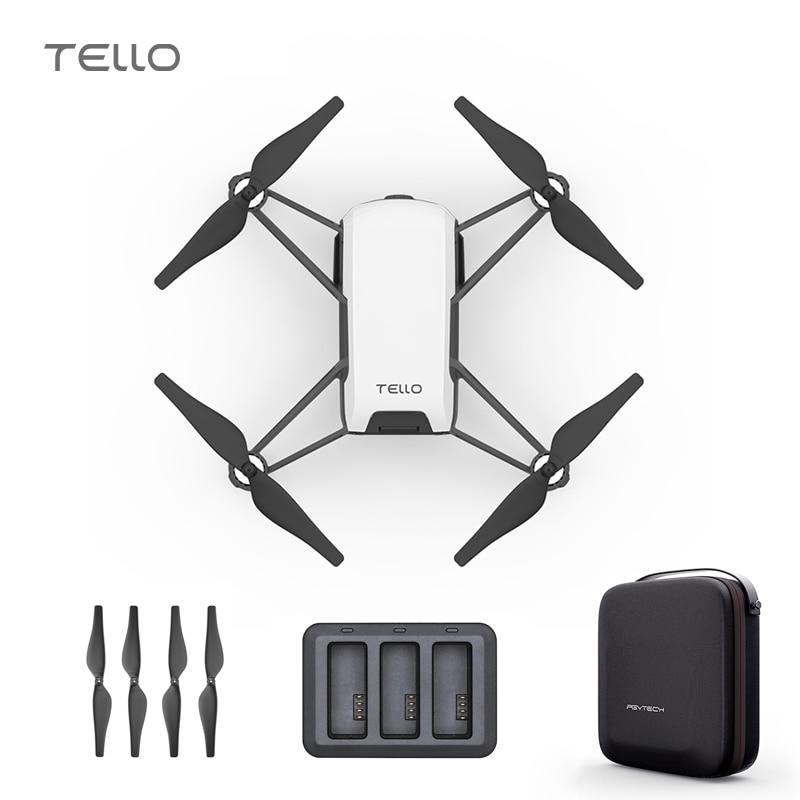 Drone et sac DJI Tello et moyeu de chargeur 720 P caméra de Transmission HD APP télécommande jouet pliable FPV RC quadrirotor Drones