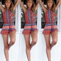 2017 New Womens Holiday Sexy Mini Floral Playsuit Ladies Summer Beach Shorts