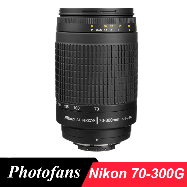 Nikon 70-300G Téléobjectif Nikkor 70-300mm f/4-5.6G Lentilles pour nikon D90 D7100 D7200 D500 D610 D700 D750 D4 D5