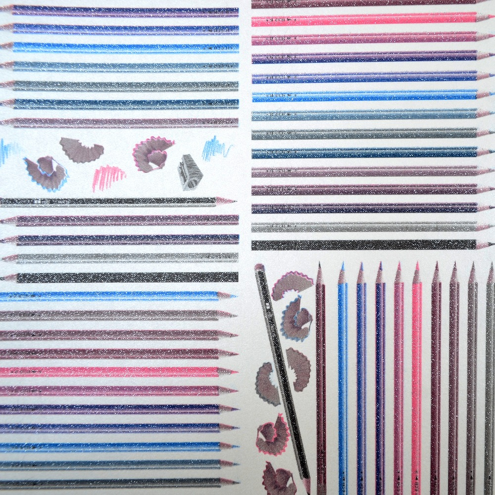 aliexpresscom buy modern color pencil glitter contemporary stylish patterns kids playroom wallpaper childrens room wallcovering from reliable wallpaper