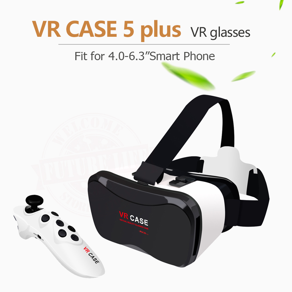 Vendita calda Google CASSA di Cartone VR 5 Plus PK Bobovr Z4, VR Box 2.0 VR Realtà Virtuale Occhiali 3D Mouse senza fili Bluetooth/Gamepad