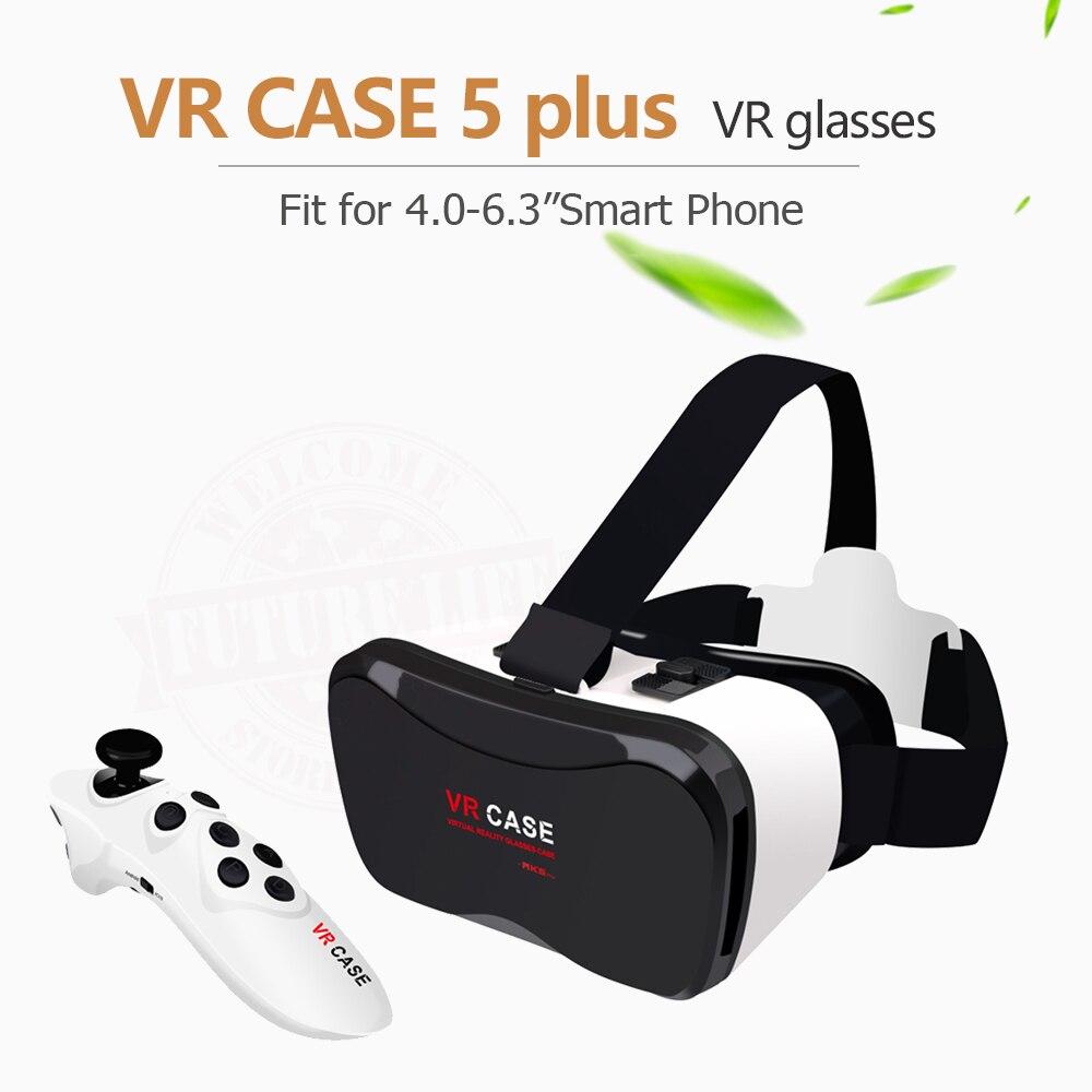 Vente chaude Google Carton VR CAS 5 Plus PK Bobovr Z4, VR Boîte 2.0 VR Réalité Virtuelle 3D Lunettes sans fil Bluetooth Souris/Gamepad