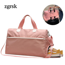 Ladies Duffle Bags Famous Brand Classic Nylon Zipper Solid Black Fashion Organizer Travel luggage Bag Travelling EZ191