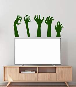 Image 1 - Monster hand zombie Halloween party vinyl wall decoration decal teen family living room bedroom decoration sticker mural WSJ09