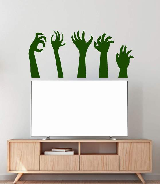 Monster hand zombie Halloween party vinyl wall decoration decal teen family living room bedroom decoration sticker mural WSJ09