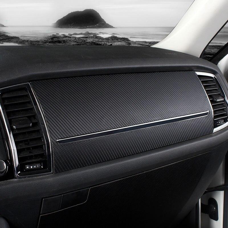 Pour SKODA KODIAQ Central contrôle tableau de bord En fiber de Carbone motif boîte à Gants En Cuir PU de protection autocollant