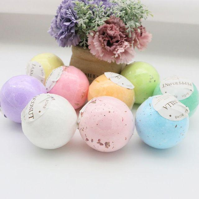 4Pcs/Box Deep Sea Bath Salt Dried Flower Essential Oil Body Bubble SPA Bath Bomb Ball Aromatherapy Dry Skin Moisturize Gift 2