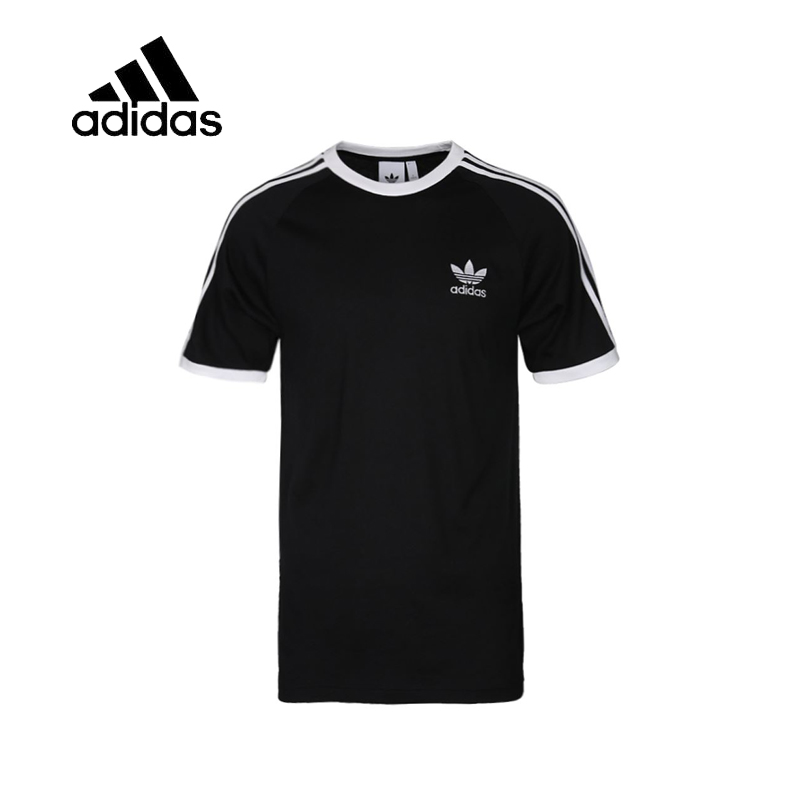 Original New Arrival Authentic Adidas Mens T-shirts Short Sleeve Male Black Leisure Sportswear Breathable Quick Dry Shirt original new arrival adidas three stripes men s t shirts shirt short sleeve sportswear