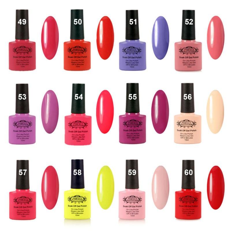 nail gel polish perfect summer soak off led uv nail gel 4 colors 1