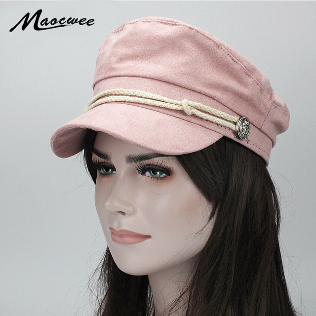 c153ff33780 Corduroy Military Hats Female Flat Cap Hats for Women Newsboy Cap British Style  Beret Boina Feminina