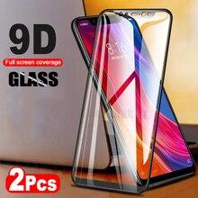 2 cái/lốc 9D Glass Đối Với Xiao mi mi 8 SE mi 8 Khám Phá mi 8 Lite Tempered Glass Bảo Vệ Màn Hình đối với Xiao mi Pocophone F1 đầy đủ bìa
