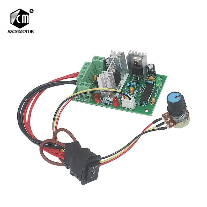 CCM2 10-30V DC Motor Speed Controller Reversible Switch 120W PWM Adjustable motor speed regulatorCCM2 10-30V DC Motor Speed Controller Reversible Switch 120W PWM Adjustable motor speed regulator