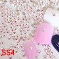 SS4 Clear Crystal AB  Nail Rhinestones Decorations Non Hotfix Rhinestone Glue on Stones For Nail Art Phone Beauty H0094