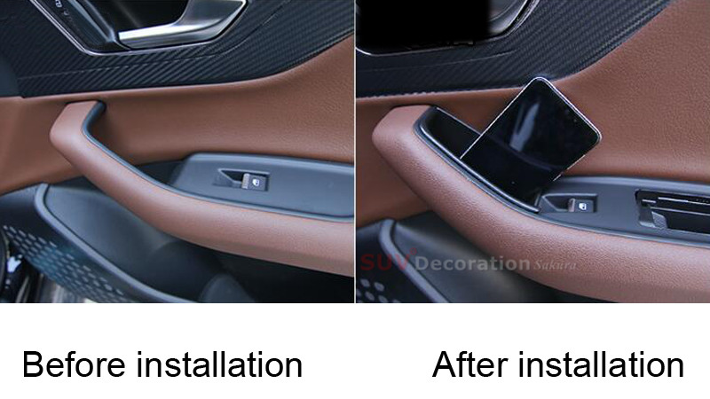 Interior Rear Door Storage Box Organizer Holder 2pcs For Audi Q7 2016-2018