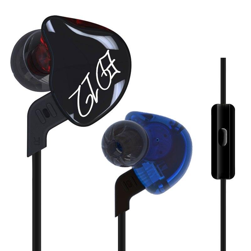 bilder für Kz ed12 benutzerdefinierte stil kopfhörer abnehmbares kabel in ohr audio monitore geräuschisolation hifi musik sport ohrhörer mit mikrofon