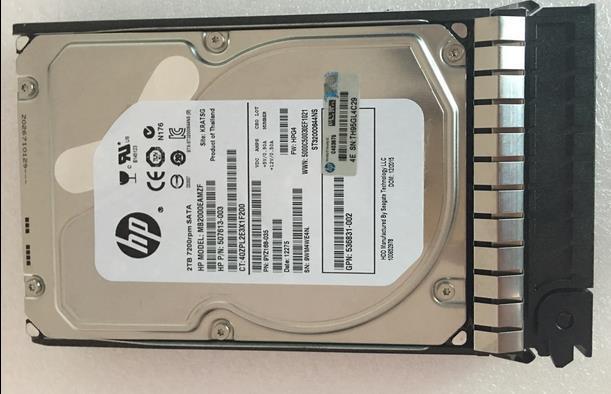 3 years warranty  100%New and original   507632-B21 508040-001 2T 7.2K SATA 3.5inch