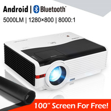 CAIWEI LED Android Wifi Projector 1080p Home Theater Movie Video Games Wireless Sync Airplay Miraplay VGA USB HDMI AV