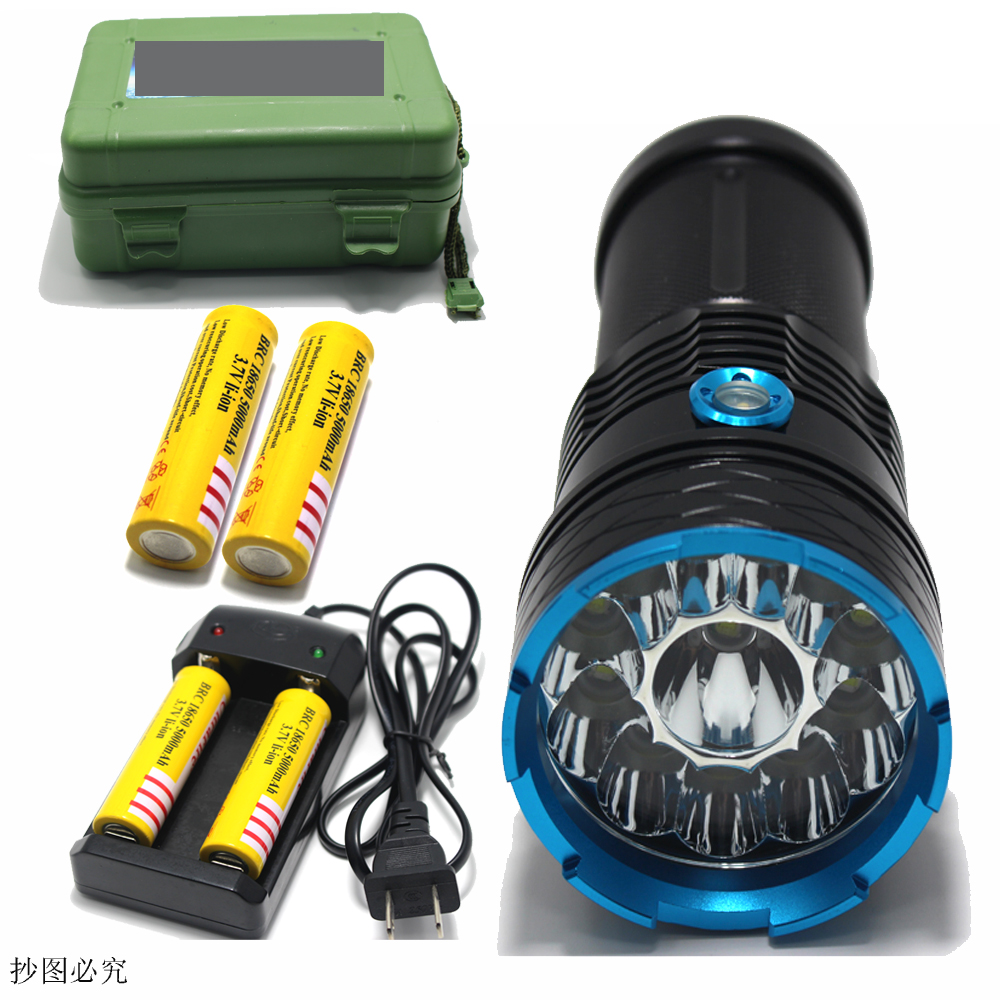 30000 lumens Super Bright LED flashlamp 12 x CREE XM-L T6 XML T6 12T6 LED Flashlight Hunting Torch + 4 *18650 battery + Charger cree xm l t6 bicycle light 6000lumens bike light 7modes torch zoomable led flashlight 18650 battery charger bicycle clip