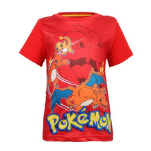 Summer children kids Shorts t-shirts cotton Pokemon Go boys girls tops tees pikachu t shirts for 3-9years baby boys clothes autumn clothing pokemon hoodie children t shirts cartoon pikachu charmander boys clothes cotton pocket monster girls clothing
