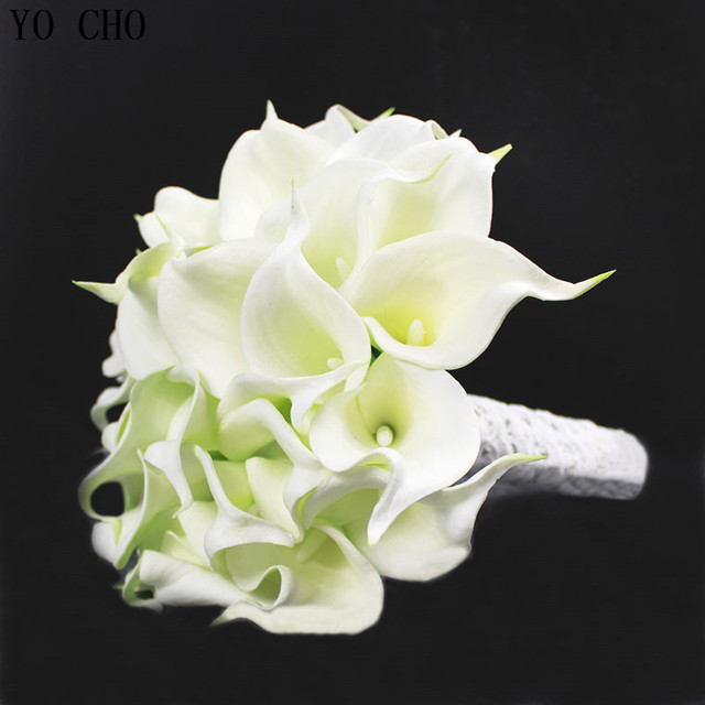 Wedding flowers bridal bouquets PU bride holding flower Ivory white ...
