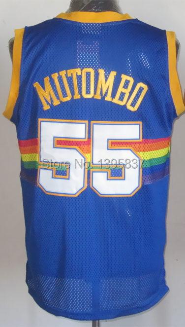detailed look 2b144 c5e16 55 Dikembe Mutombo Jersey,Throwback Basketball Jersey,Best ...