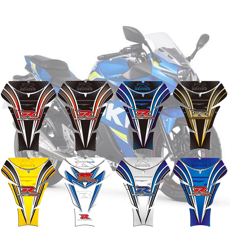 Motorcycle Tank Sticker Decals 3D Tank Pad Fishbone Protective Decals For Suzuki GSXR 600 750 1000