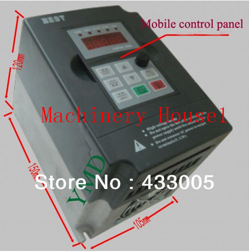 New 1pcs Variable frequency drive power router inverter 1.5KW converter CNC engraving and milling machine commom use inverter accessories acs600 frequency converter drive plate ngdr 03c and ngdr 03