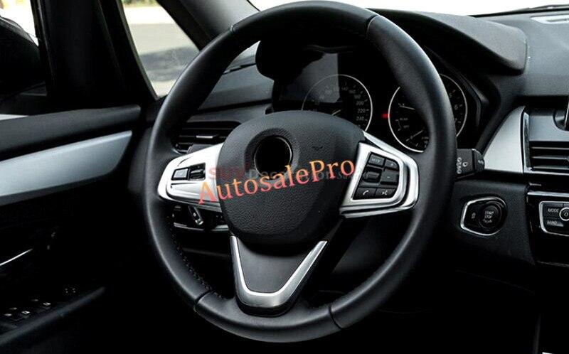 Conduite à gauche ABS Intérieur Volant Awitch Bouton Couverture Garniture Pour BMW X1 F48 2016 2017