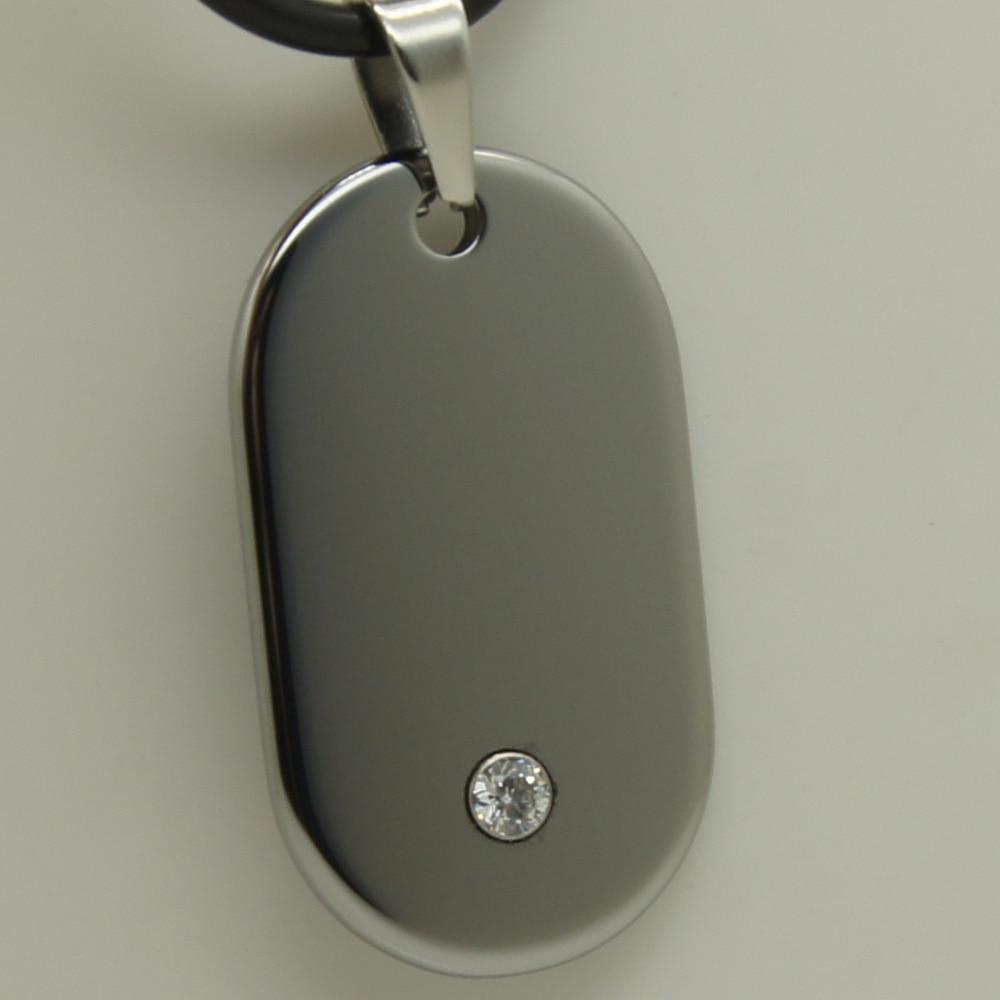 men/women jewelry simple design cz inlayed hi-tech scratch proof tungsten pendant necklace