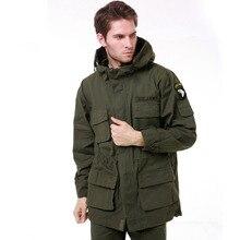 Gabardina militar M65 para hombre, abrigo masculino de camuflaje sólido Wadded 101st Airborne Force Fleece Jacket Coat BF802