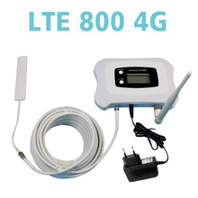 Top quality! LTE 4G 800MHZ phone signal repeater large coverage amplifier booster with LCD