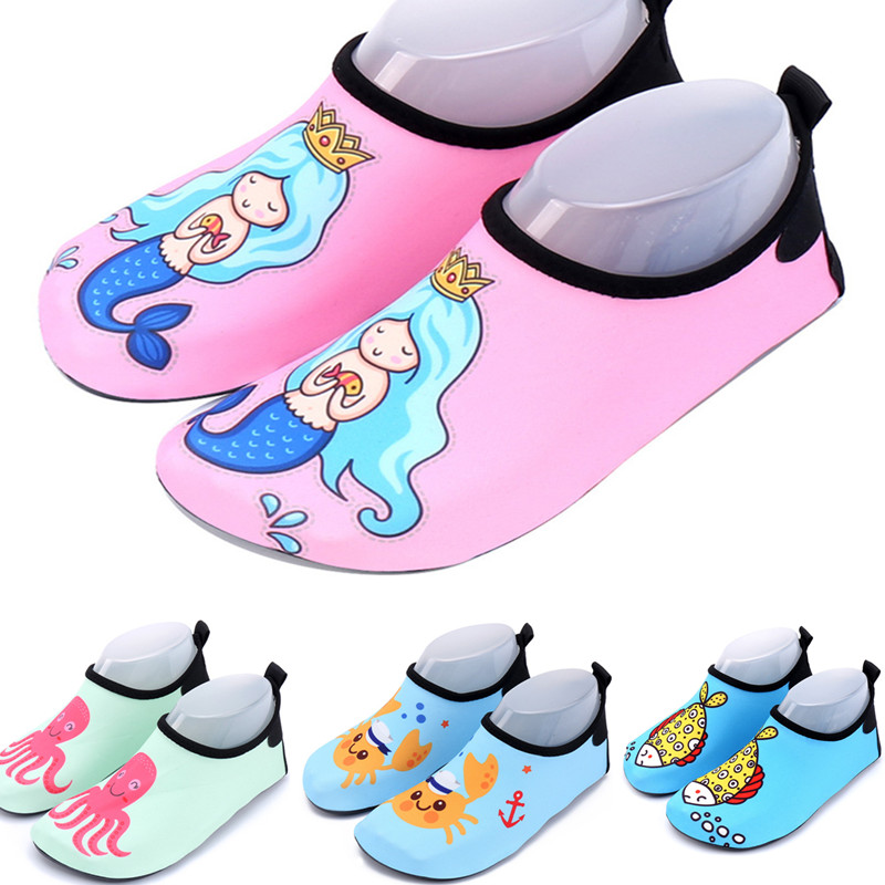2018 water shoes for kids print animals mermaid Children Swimm Diving Socks slippers Outdoor Water Non-Slip beach Shoes sneakers