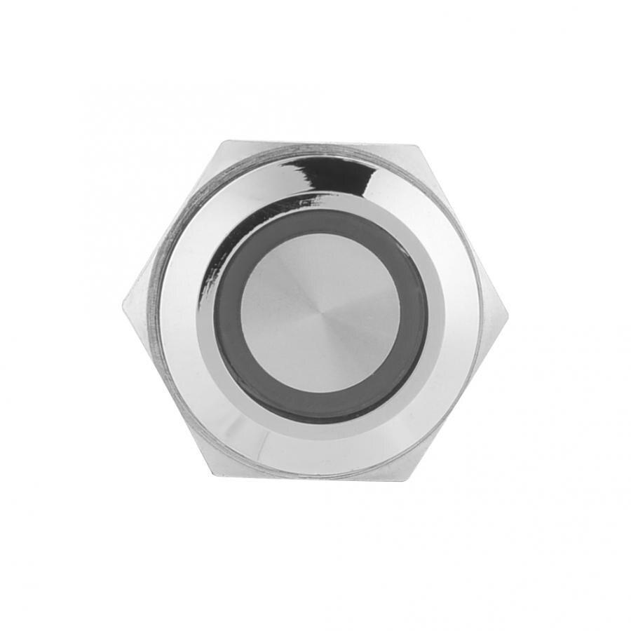 Беспроводной переключатель для выведения токсинов, 40 шт 16 мм, самофиксирующиеся металлическая кнопка переключатель 24 V светодиодный свет 5 контактный выключатели света прерыватель - 4
