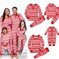 Мода Рождество Семьи Соответствия Пижамы Набор Детские Взрослых Женщин Мужчины Дети Пижамы Пижамы Семьи Соответствующие Наряды