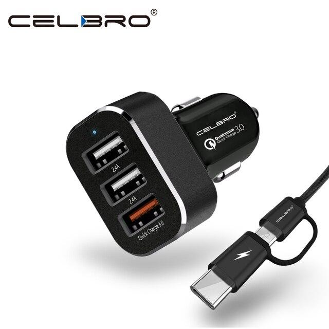3 USB Автомобильное Зарядное устройство Quick Charge 3.0 автомобилей Зарядное устройство для мобильного телефона QC 3.0 автомобилей USB Зарядное устройство быстрой зарядки адаптер для Samsung S8/плюс