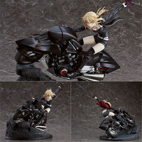 Anime Fate Grand Order Saber Arutoria Pendoragon motorbike Saber PVC Action Figure Collectible Model Toys For Children Gift