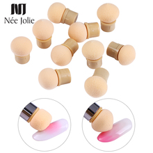 5pcs/10pcs Dual-ended Sponge Replaceable Heads for Glitter Powder Nail Brush Sponge Head of Picking Dotting Gradient Pen Tool sponge brush head black