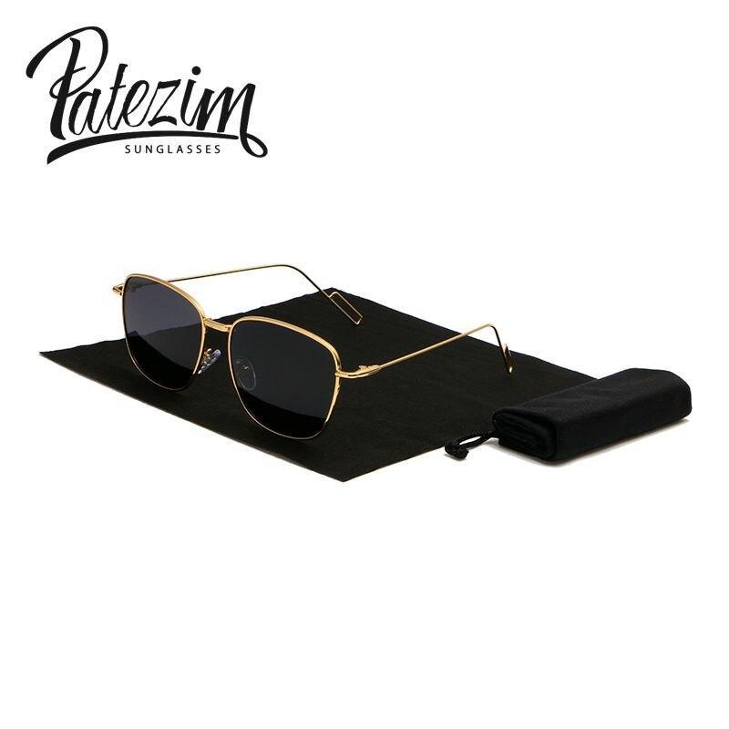 a3c60aa793b099 Polarisées Rétro Femmes lunettes de Soleil Or   Argent Métal Cadre Vapeur  Punk Lunettes Hommes conduite marque de luxe lunettes de soleil UV400