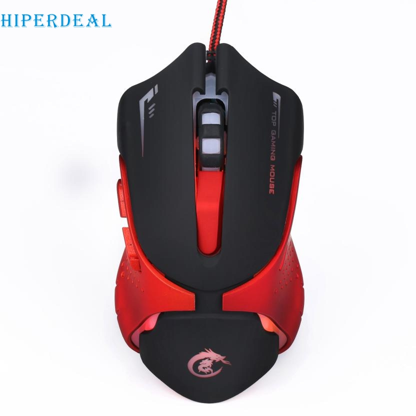 лучшая цена Good Sale Hot 6D LED Optical USB Wired 3200 DPI Pro Gaming Mouse For Laptop PC Game Jan 22