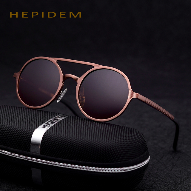 HEPIDEM 2017 Women Brand Designer Polarized Round Sunglasses Cool Men Vintage Driving Sun Glasses For Men Accessories Decorative