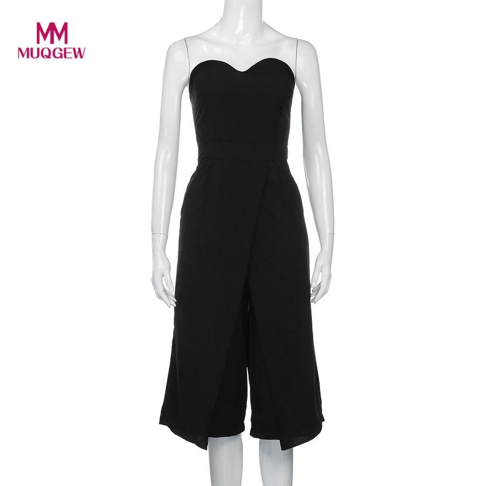 2018 new arrival fashion Women Jumpsuit Ladies Clubwear Playsuit Bodycon Party Jumpsuit Sleeveless Trousers Jumpsuit combinaison