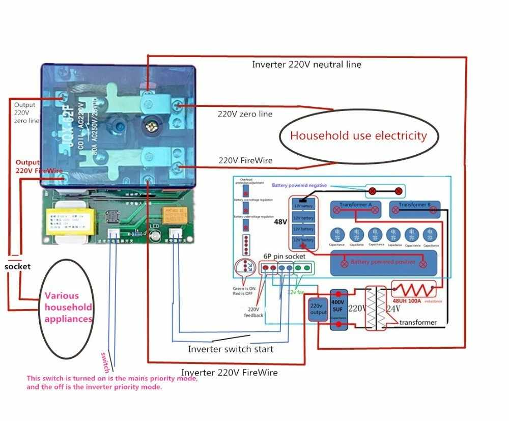 Yüksek güç inverteri Ups otomatik anahtar röle