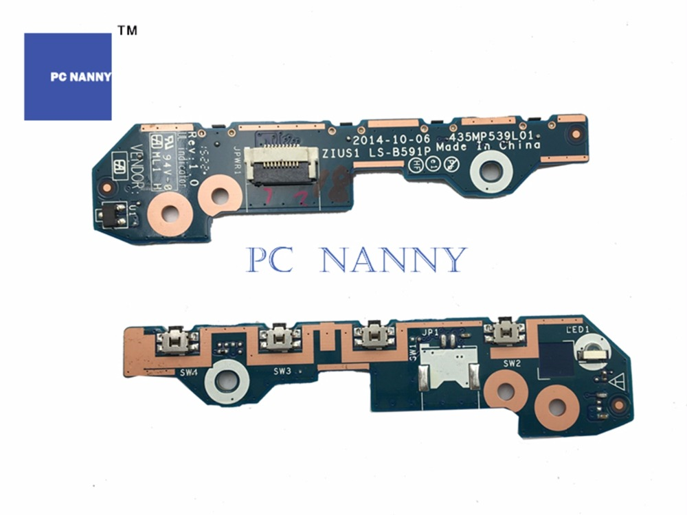 Computer & Office Pc Nanny Genuine For Lenovo Yoga 15 Yoga15 Power Switch Board Ls-b591p 00jt297 Works