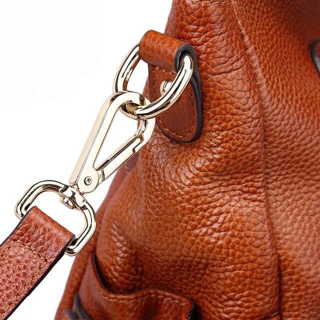 2016 New European Genuine Leather Women Handbag Hot Female OL Work Shoulder Bag Classic Fashion Elegant Lady Handbags WUJ0357