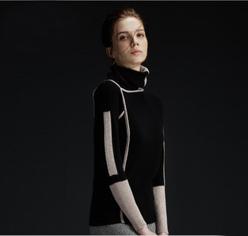 цена на 100 cashmere sweater women Black Pullover Turtleneck Solid Natural Fabric High Quality Free Shipping