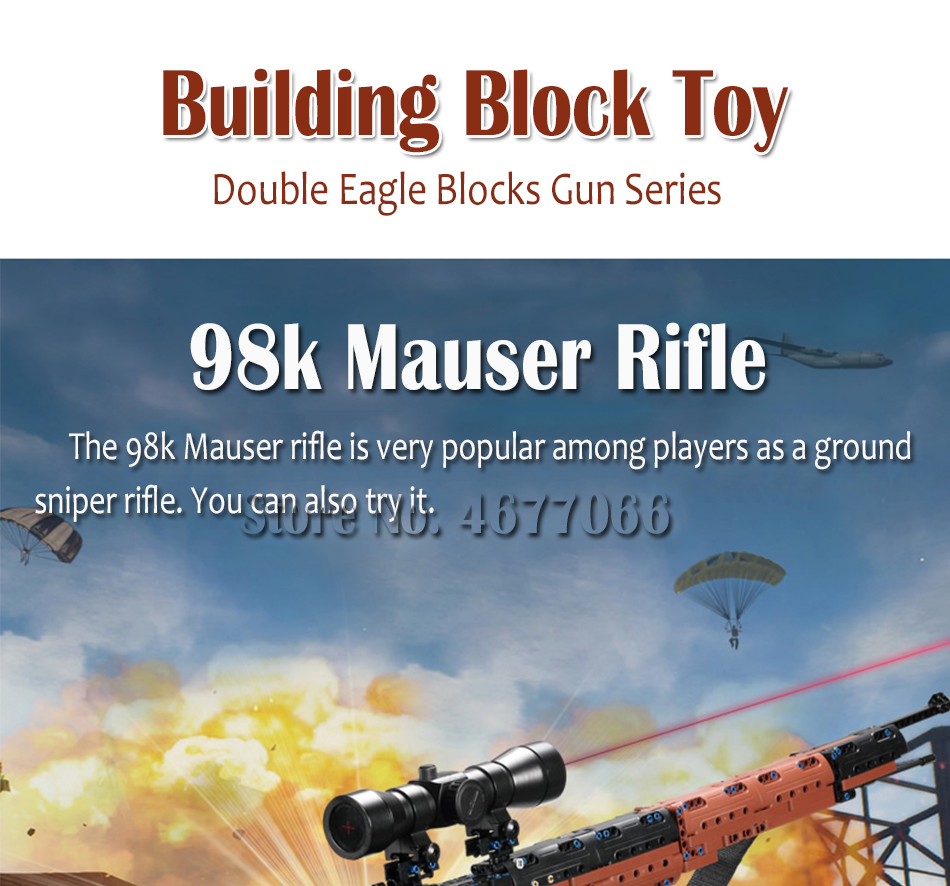cada building blocks technic gun toy models & building toy gun model 98k bricks educational toys for children ww2 toys for kids 79